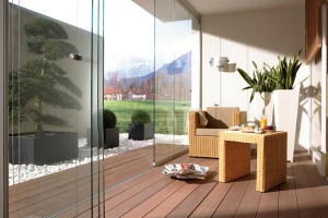 Operable glass wall